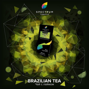 Табак для кальяна Spectrum HARD Line - Brazilian tea (Чай с лаймом) 40г